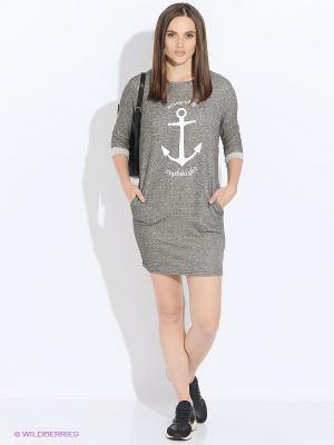Платье Moodo. Цвет: темно-серый