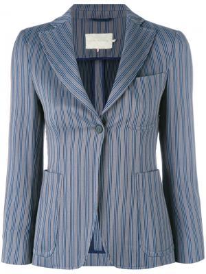 Полосатый пиджак LAutre Chose L'Autre. Цвет: синий