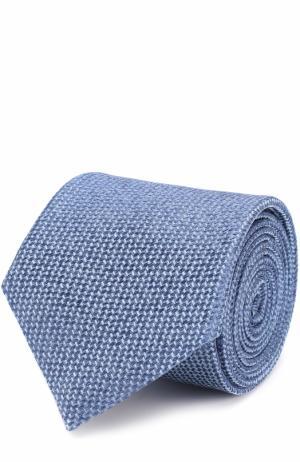 Шелковый галстук Canali. Цвет: голубой