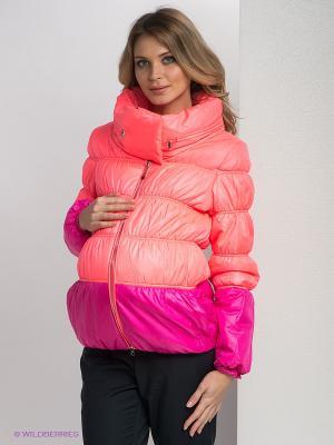 Куртка Gemko. Цвет: оранжевый, розовый
