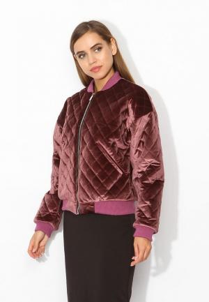 Куртка утепленная Tutto Bene. Цвет: розовый
