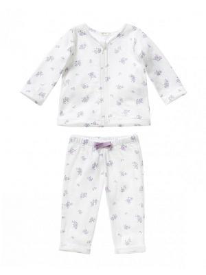 Комплект одежды United Colors of Benetton. Цвет: сиреневый, белый, светло-серый