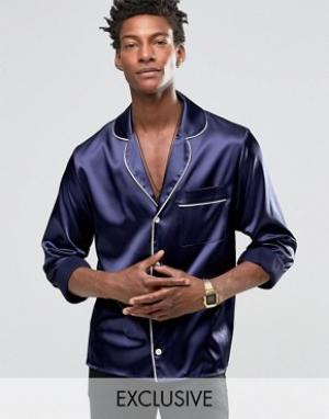 Reclaimed Vintage Ночная рубашка. Цвет: темно-синий