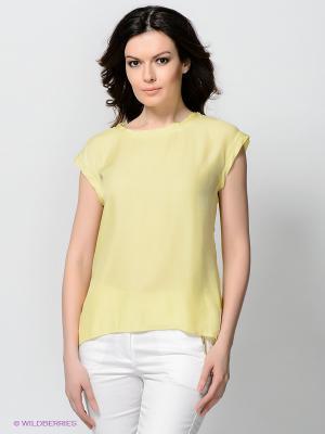 Блузка Viaggio. Цвет: светло-желтый