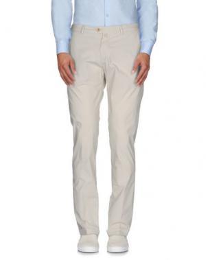 Повседневные брюки B SETTECENTO. Цвет: слоновая кость