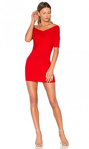 Платье с запахом Michelle Mason. Цвет: красный