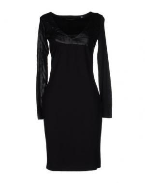 Платье до колена CRISTIANO BURANI. Цвет: черный