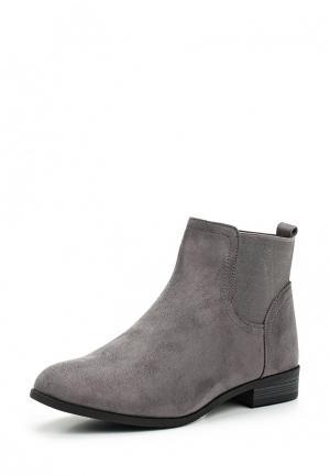 Ботинки Ideal Shoes. Цвет: серый