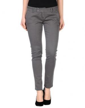 Повседневные брюки DUCK FARM. Цвет: свинцово-серый