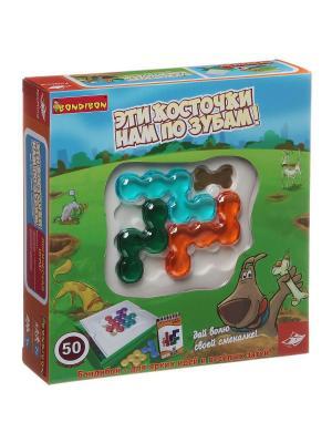Настольная игра Bondibon ЭТИ КОСТОЧКИ НАМ ПО ЗУБАМ!, Box 24x24х6 см.. Цвет: голубой, фиолетовый, красный, зеленый