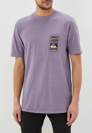 Футболка Quiksilver. Цвет: фиолетовый