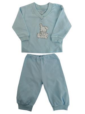 Пижама NICE-KID. Цвет: голубой