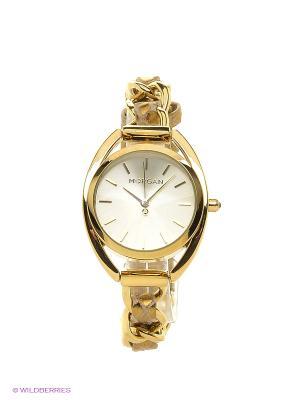 Часы наручные Morgan. Цвет: золотистый