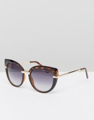 Black Phoenix Солнцезащитные очки кошачий глаз. Цвет: коричневый