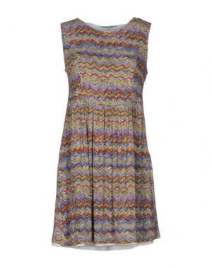 Короткое платье LA FEE MARABOUTEE. Цвет: голубиный серый