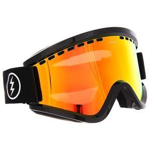 Маска для сноуборда  Egv Gloss Black Brose/Red Chrome Electric. Цвет: черный,желтый