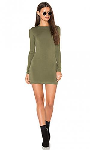 Мини-платье с длинным рукавом BLQ BASIQ. Цвет: зеленый