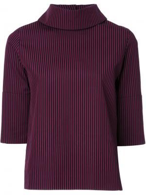 Блузка с высоким воротником Taro Horiuchi. Цвет: красный