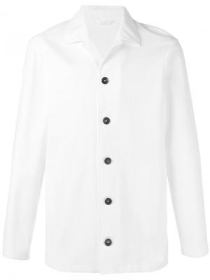 Куртка-бомбер с контрастной отделкой Jil Sander. Цвет: белый
