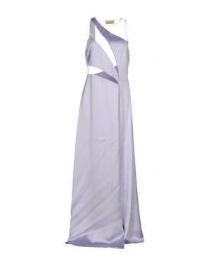 Длинное платье GAI MATTIOLO. Цвет: сиреневый
