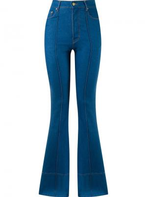 High waist flared jeans Amapô. Цвет: синий