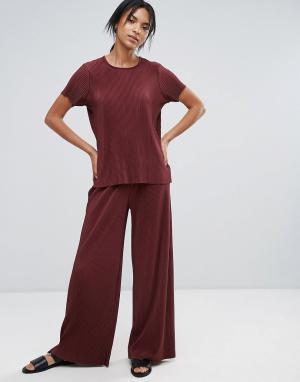 Just Female Широкие плиссированные брюки. Цвет: красный