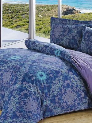 Комплект постельного белья. Soft Line. Цвет: синий
