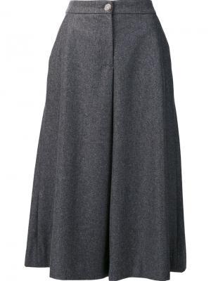 Широкие укороченные брюки Vanessa Seward. Цвет: серый