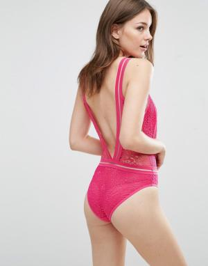 Knickerbox Боди Tammy. Цвет: розовый