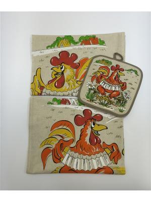 Набор полотенец A and C Collection. Цвет: бежевый, красный, белый, бордовый