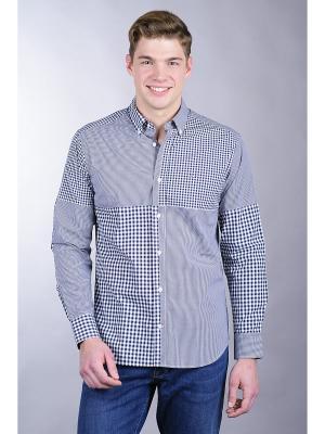 Рубашка Eden Park. Цвет: серый, белый, темно-синий