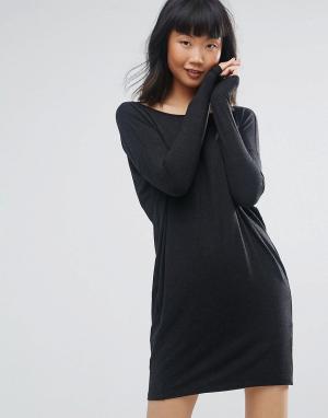 Moss Copenhagen Платье с длинным рукавом. Цвет: черный