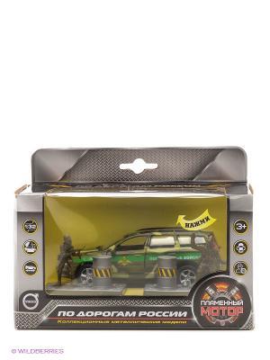 Машина мет. ин. 1:32 Volvo Пограничные войска, откр.двери, свет, звук Пламенный мотор. Цвет: темно-зеленый