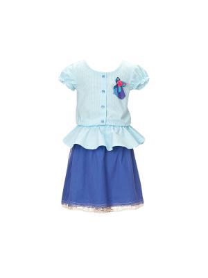 Блузка Gioia di Mamma. Цвет: голубой