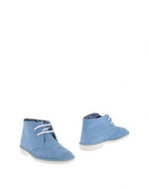 Полусапоги и высокие ботинки ANTICA CUOIERIA. Цвет: пастельно-синий