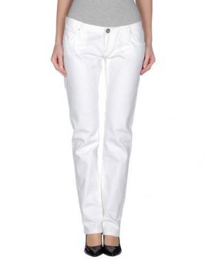 Джинсовые брюки PARIS HILTON. Цвет: белый