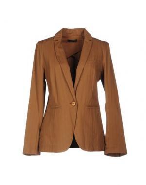Пиджак SOALLURE. Цвет: коричневый