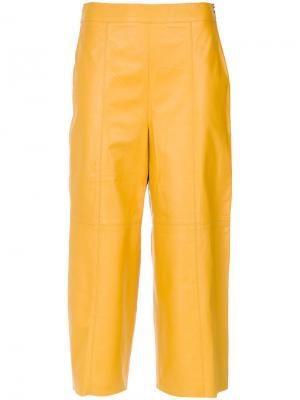 Leather cropped trousers Nk. Цвет: жёлтый и оранжевый
