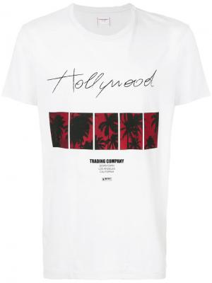 Футболка с принтом-логотипом Htc Hollywood Trading Company. Цвет: белый