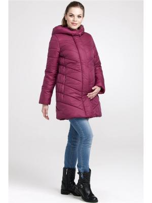Пальто Modress. Цвет: малиновый