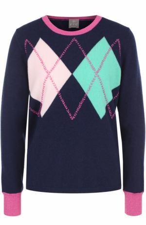 Кашемировый пуловер с круглым вырезом FTC. Цвет: темно-синий