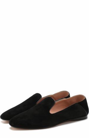 Замшевые слиперы с мягким задником BOSS. Цвет: черный
