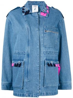 Джинсовая куртка Moi et Toi Steve J & Yoni P. Цвет: синий