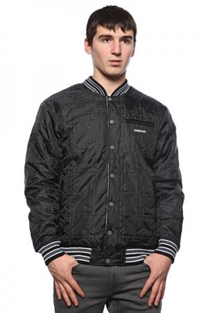 Куртка бомбер  Team Jacket Black/White Dekline. Цвет: белый,черный