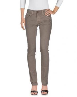 Джинсовые брюки MAISON CLOCHARD. Цвет: серый