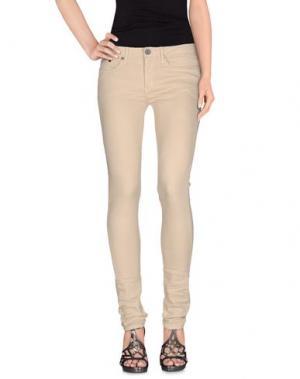 Джинсовые брюки THVM. Цвет: бежевый