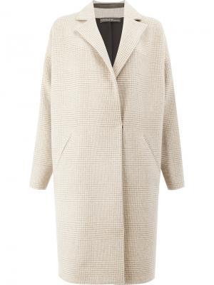 Пальто в клетку 32 Paradis Sprung Frères. Цвет: телесный