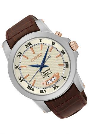Часы Seiko. Цвет: коричневый