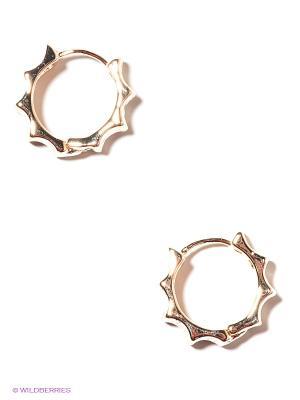 Серьги Lovely Jewelry. Цвет: золотистый