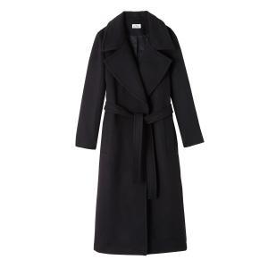 Пальто с большиим воротником и поясом CARMEN LA BRAND BOUTIQUE COLLECTION. Цвет: темно-синий